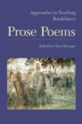Image for Approaches to teaching Baudelaire's prose poems