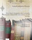 Image for Syrisch-arabische Glossen : Erster Band: Autographie einter Gothaische Handschrift enthaltend Bar Ali's Lexikon von Alif bis Mim