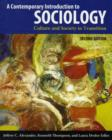 Image for A contemporary introduction to sociology  : culture and society in transition
