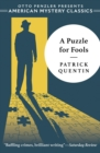 Image for A Puzzle for Fools : A Peter Duluth Mystery
