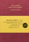 Image for The UBS5 Greek New Testament  : a reader's edition