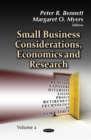 Image for Small business considerations, economics & researchVolume 2