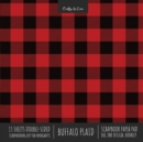 Image for Buffalo Plaid Scrapbook Paper Pad 8x8 Decorative Scrapbooking Kit for Cardmaking Gifts, DIY Crafts, Printmaking, Papercrafts, Red and Black Check Designer Paper