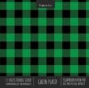 Image for Green Plaid Scrapbook Paper Pad 8x8 Decorative Scrapbooking Kit for Cardmaking Gifts, DIY Crafts, Printmaking, Papercrafts, Check Pattern Designer Paper
