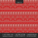 Image for Christmas Pattern Scrapbook Paper Pad 8x8 Decorative Scrapbooking Kit for Cardmaking Gifts, DIY Crafts, Printmaking, Papercrafts, Red Knit Ugly Sweater Style