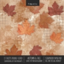 Image for Autumn Fall Scrapbook Paper Pad 8x8 Decorative Scrapbooking Kit for Cardmaking Gifts, DIY Crafts, Printmaking, Papercrafts, Leaves Pattern Designer Paper