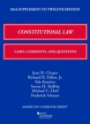 Image for Constitutional Law : Cases, Comments, and Questions, 2018 Supplement