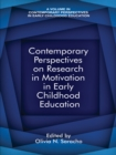Image for Contemporary perspectives on research on motivation in early childhood education