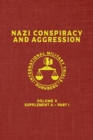 Image for Nazi Conspiracy And Aggression : Volume X -- Supplement A - Part 1 (The Red Series)