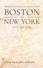 Image for Private Journal of a Journey from Boston to New York in the Year 1704