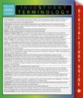Image for Investment Terminology: Speedy Study Guides