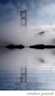 Image for San Francisco stunning golden gate bridge reflections Blank white page Creative Journal