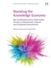 Image for Boosting the knowledge economy  : learning services in educational, cultural and corporate environments