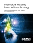 Image for Intellectual property issues in biotechnology