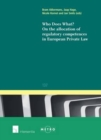 Image for Who Does What?: On the Allocation of Competences in European Private Law