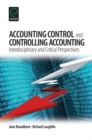 Image for Accounting control and controlling accounting  : interdisciplinary and critical perspectives