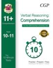 Image for 10-Minute Tests for 11+ Comprehension (Ages 10-11) - CEM Test