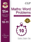 Image for 10-Minute Tests for 11+ Maths: Word Problems (Ages 10-11) - CEM Test
