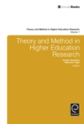 Image for Theory and method in higher education research