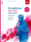 Image for Saxophone Exam Pack 2018-2021, ABRSM Grade 4 : Selected from the 2018-2021 syllabus. 2 Score & Part, Audio Downloads, Scales & Sight-Reading