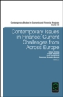 Image for Contemporary issues in finance  : current challenges from across Europe