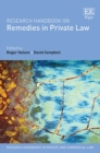 Image for Research handbook on remedies in private law