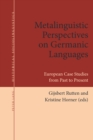 Image for Metalinguistic Perspectives on Germanic Languages: European Case Studies from Past to Present