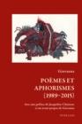 Image for Poemes et Aphorismes (1989-2015) : 2