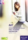 Image for Final accounts preparation: Study text :