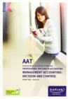 Image for MANAGEMENT ACCOUNTING: DECISION AND CONTROL - STUDY TEXT