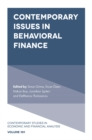 Image for Contemporary issues in behavioral finance