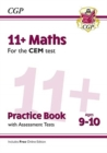 Image for 11+ CEM Maths Practice Book & Assessment Tests - Ages 9-10 (with Online Edition)