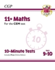 Image for New 11+ CEM 10-Minute Tests: Maths - Ages 9-10 (with Online Edition)
