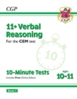 Image for New 11+ CEM 10-Minute Tests: Verbal Reasoning - Ages 10-11 Book 1 (with Online Edition)