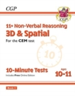 Image for 11+ CEM 10-Minute Tests: Non-Verbal Reasoning 3D & Spatial - Ages 10-11 Book 2 (with Online Ed)