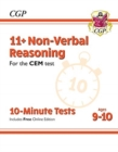 Image for New 11+ CEM 10-Minute Tests: Non-Verbal Reasoning - Ages 9-10 (with Online Edition)