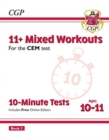 Image for New 11+ CEM 10-Minute Tests: Mixed Workouts - Ages 10-11 Book 1 (with Online Edition)