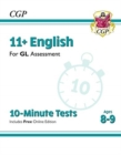 Image for New 11+ GL 10-Minute Tests: English - Ages 8-9 (with Online Edition)