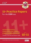 Image for New 11+ CEM Practice Papers: Ages 10-11 - Pack 2 (with Parents' Guide & Online Edition)