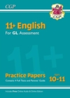 Image for 11+ GL English Practice Papers - Ages 10-11 (with Parents' Guide & Online Edition)