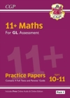 Image for 11+ GL Maths Practice Papers: Ages 10-11 - Pack 1 (with Parents' Guide & Online Edition)