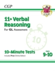 Image for New 11+ GL 10-Minute Tests: Verbal Reasoning - Ages 9-10 (with Online Edition)