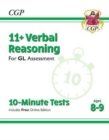 Image for New 11+ GL 10-Minute Tests: Verbal Reasoning - Ages 8-9 (with Online Edition)
