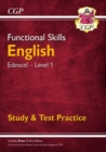 Image for New Functional Skills English: Edexcel Level 1 - Study & Test Practice (for 2020 & beyond)