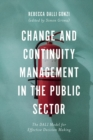 Image for Change and continuity management in the public sector: the DALI model for effective decision making