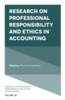 Image for Research on Professional Responsibility and Ethics in Accounting