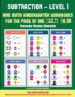 Image for Preschool Number Workbook (Kindergarten Subtraction/Taking Away Level 1) : 30 Full Color Preschool/Kindergarten Subtraction Worksheets That Can Assist with Understanding of Math (Includes 8 Additional