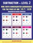 Image for Kindergarten Number Workbook (Kindergarten Subtraction/Taking Away Level 2) : 30 Full Color Preschool/Kindergarten Subtraction Worksheets (Includes 8 Printable Kindergarten PDF Books Worth $60.71)
