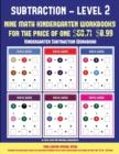 Image for Kindergarten Subtraction Workbook (Kindergarten Subtraction/Taking Away Level 2) : 30 Full Color Preschool/Kindergarten Subtraction Worksheets (Includes 8 Printable Kindergarten PDF Books Worth $60.71