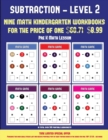 Image for Pre K Math Lesson (Kindergarten Subtraction/Taking Away Level 2) : 30 Full Color Preschool/Kindergarten Subtraction Worksheets (Includes 8 Printable Kindergarten PDF Books Worth $60.71)